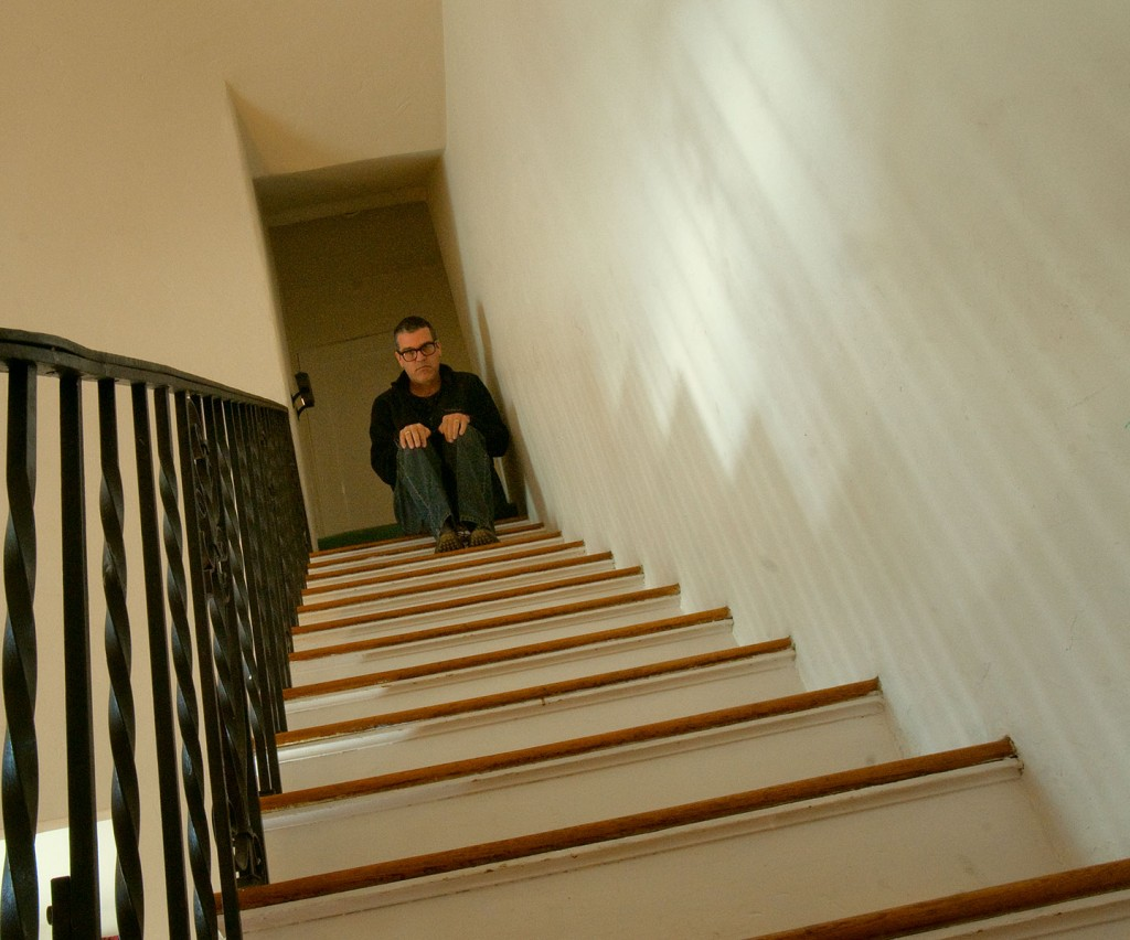Self Portrait on Stairs